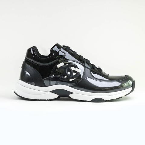 CC Logo Black Transparent Sneaker | Black laces, Green sneakers
