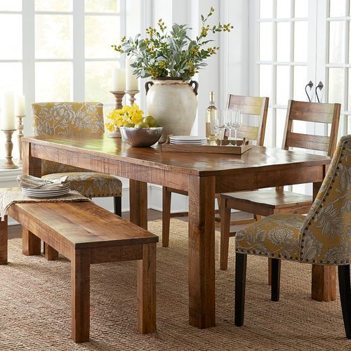 Parsons 76 Java Dining Table Dining Room Table Farmhouse Kitchen Tables Dining Room Sets