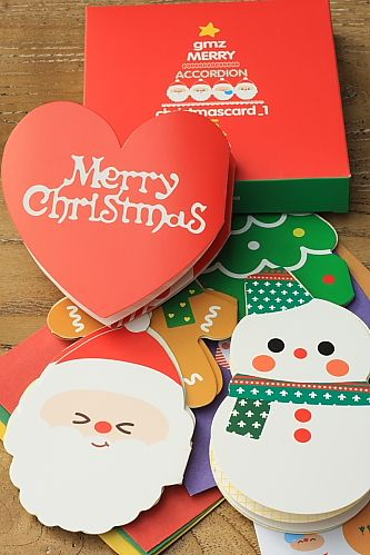 Kawaii Christmas Card Envelope Set