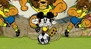 Mickey Mouse no Maracanã! :)