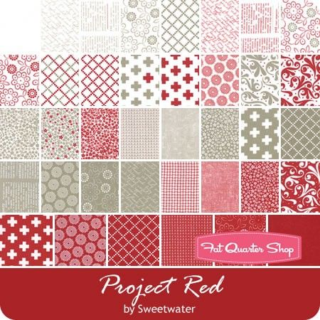 Project Red Charm Pack Reservation by Sweetwater for Moda Fabrics - December 2017