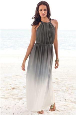Grey Ombre Maxi Dress  My next big moment my honeymoon ...