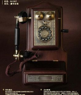 Find More Telephones Information about Fashion antique telephone paramount wall machine telephone luxury 1958 1907 dect,High Quality Telephones from Friendship first, Bussiness second on Aliexpress.com