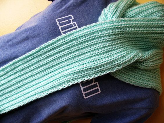 Leah Scarf In Mint Green by knittingstitches on Etsy, $30.00