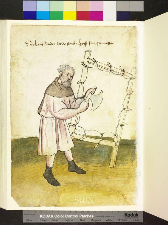 Mendel Housebook, Amb. 317.2° Folio 34 verso, c 1425, Nuremberg (Nürnberg):