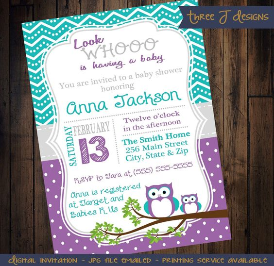 owl showers purple teal owl baby showers baby shower invitations baby