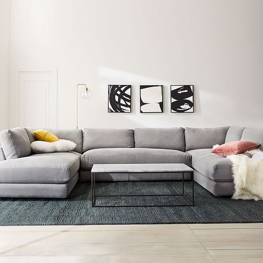 This Is The Couch I Ve Recently Had My Eye On But I Have No Idea If It Will Fit U Shaped Sectional Small Room Design U Shaped Couch