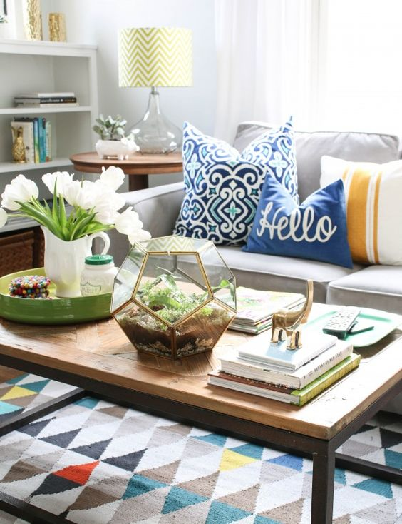 We love coffee tables! Get the best ways to style them here: http://www.bhg.com/blogs/better-homes-and-gardens-style-blog/2014/07/21/from-my-home-to-yours-coffee-tables/?socsrc=bhgpin080514coffeetables