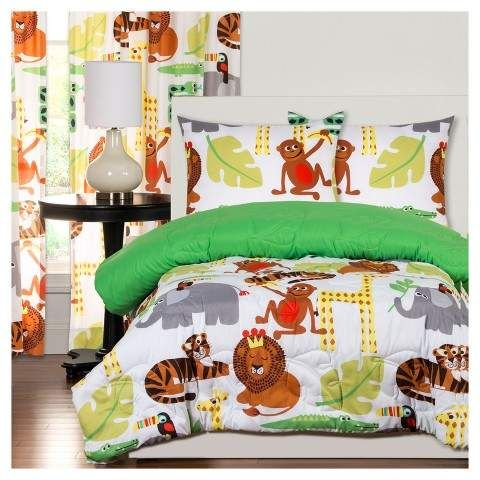 Children Bedding Crayola Jungle Love Comforter Set Comforter And