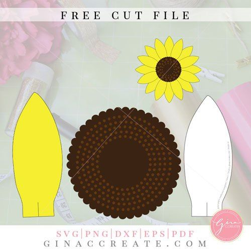 Diy Paper Sunflower With Free Svg Template Paper