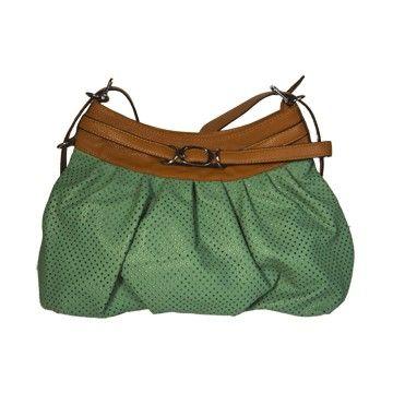 Bolsa verde e marrom