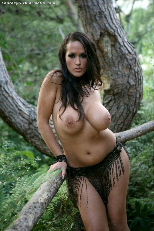 In forest a nude chubby