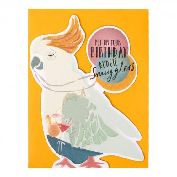 Budgie smugglers die-cut birthday card format Pinterest Card - birthday cards format