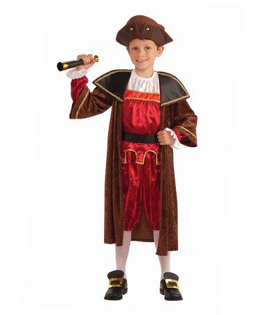 Another great find on #zulily! Red & Brown Explorer Dress-Up Outfit - Boys #zulilyfinds