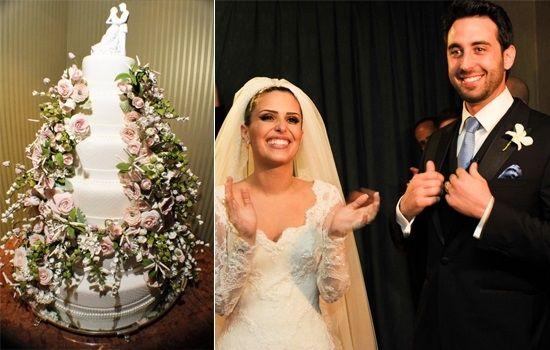 wedding cake Isabella Suplicy newlyweds: Athina Mitropoulos & Felipe Baptistella