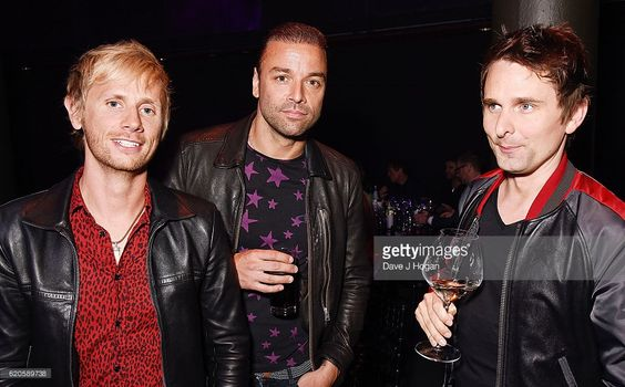 Dominic Howard, Chris Wolstenholme and Matt Bellamy of Muse attend The Stubhub Q Awards 2016 at The Roundhouse on November 2, 2016 in London, England.: