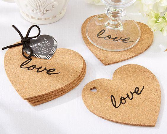 Love Shaped Cork Coasters