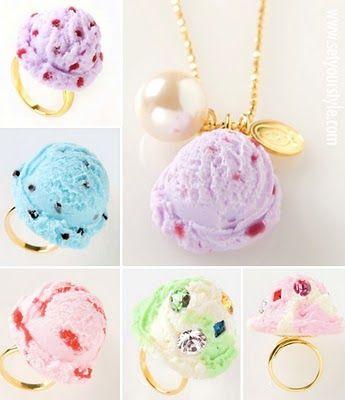 Ice cream jewellery from q-pot