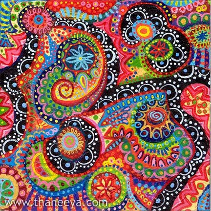 Can I use a paisley design for non-objective art?