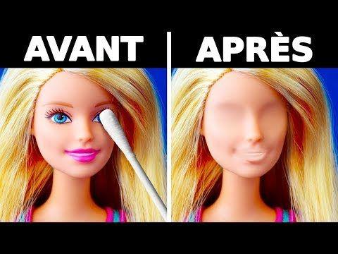 25 Astuces Avec Des Barbie Pour Les Enfants Et Les Adultes Youtube Cheveux Barbie Barbie Diy Barbie