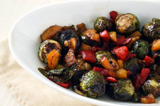 Yum! Roasted Balsamic Brussels Sprouts @Wendy {@laphemmephoodie}