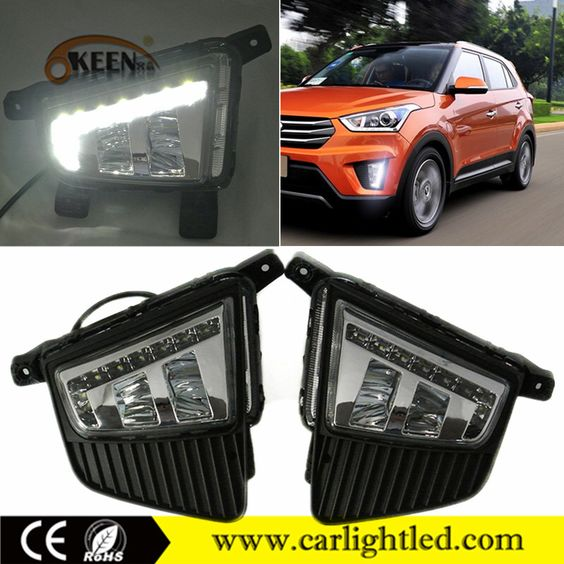 Check out this product on Alibaba.com APP KEEN ABS Material Auto LED Daytime Running Lights For IX25 LED DRL Hyundai Driving Lamp