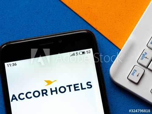 In This Photo Illustration The Accor Hotels Logo Is Seen Displayed