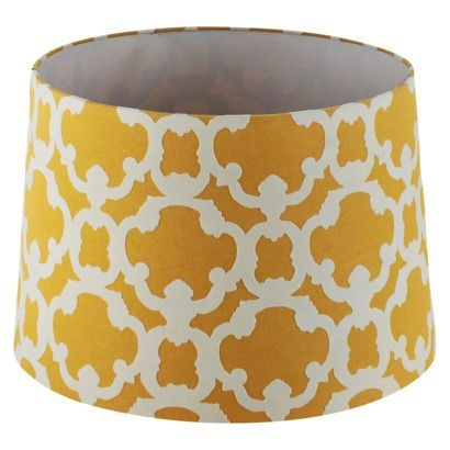 I like it in the blue aka trout stream, yellow or gray aka elephant. This might look good on the glass lamp.  Threshold Flocked Lamp Shade - Large