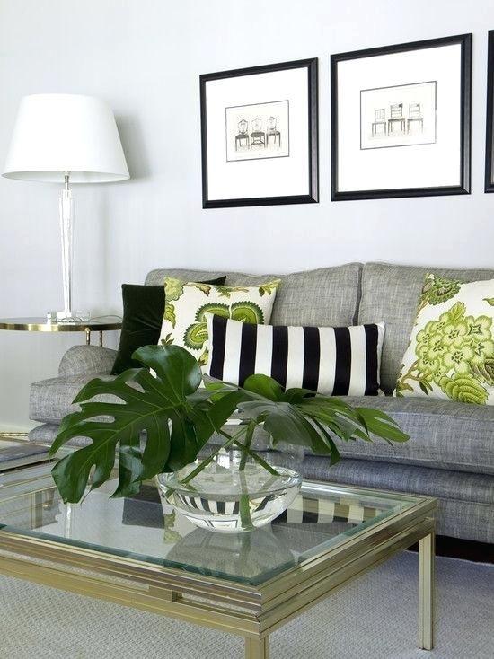 Lime Green Black And White Living Room Salas Pequenas Decoracao Abajur Para Sala