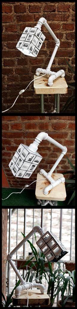 Tubo de fontaner a l mpara de escritorio y accesorios con for Tubos de fontaneria