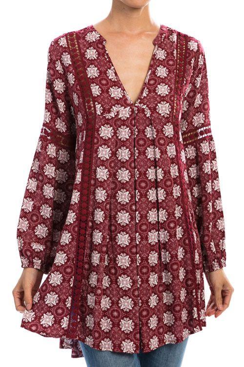 Crochet Detailed Pattern Tunic