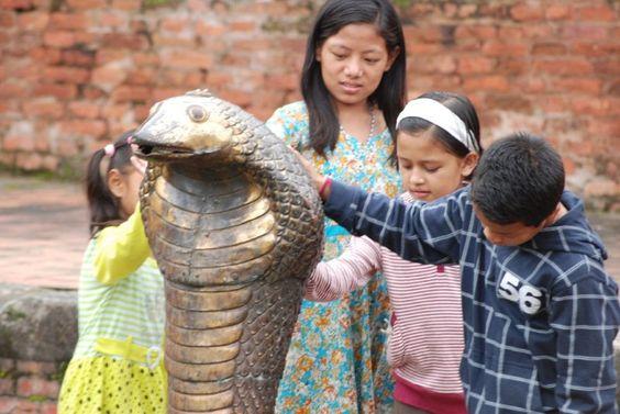 Kinderen van het kindertehuis in Kathmandu