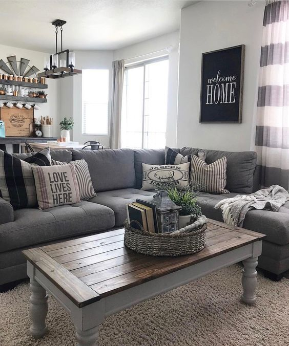 48 Cozy Rustic Living Room Design And Decorating Farmhouse Decor Living Room Modern Farmhouse Living Room Decor Living Room Grey