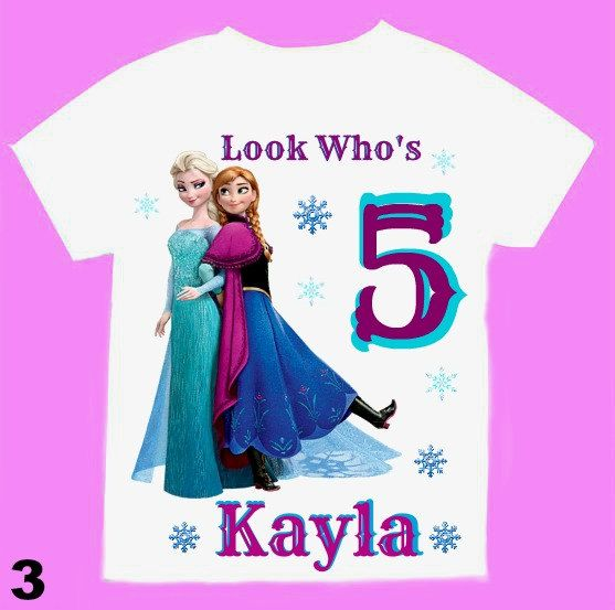 Frozen Birthday Girl Shirt Personalized with by FantasyKidsParty