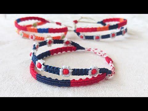 Makrome Sirali Bileklik Yapimi Ve Birlestirme Macrame Striped Bracelet And Combine 2 Bracelets Youtub Orgu Bileklik Modelleri Bileklik Boncuk Suslu Takilar