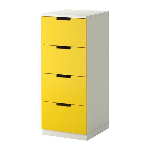 NORDLI Kommode mit 4 Schubladen IKEA Kann nach Wunsch und Gegebenheiten einzeln eingesetzt oder mit mehreren kombiniert werden.