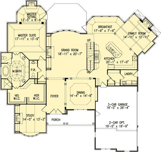 Plan 15611GE Beautiful Master Down House Plan Beautiful House