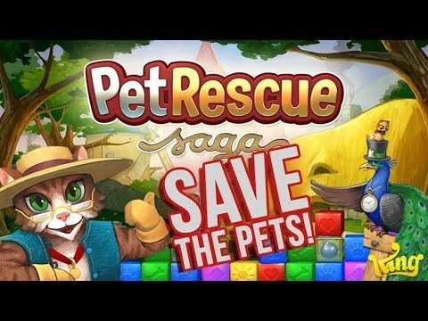 Pet Rescue Saga Gameplay P 02 Classic Gaming Pet Rescue Saga Animal Rescue Pets