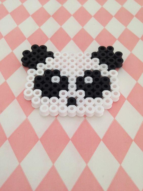 Magnet tête de Panda en perles à repasser : Accessoires de maison par margo-s-shop