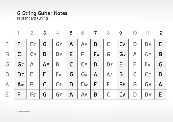 guitar theory note guitar and charts on 5224