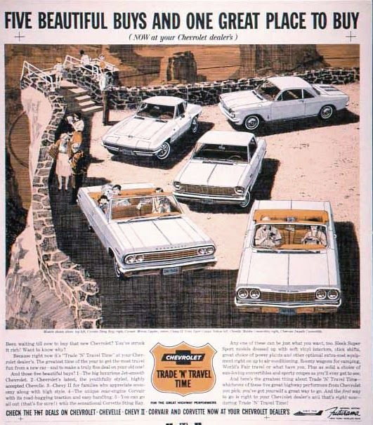 Five Beautiful Buys And One Great Place To Buy Now At Your Chevrolet Dealer S This Was The First Ad In A T Chevrolet Automobile Advertising Car Advertising