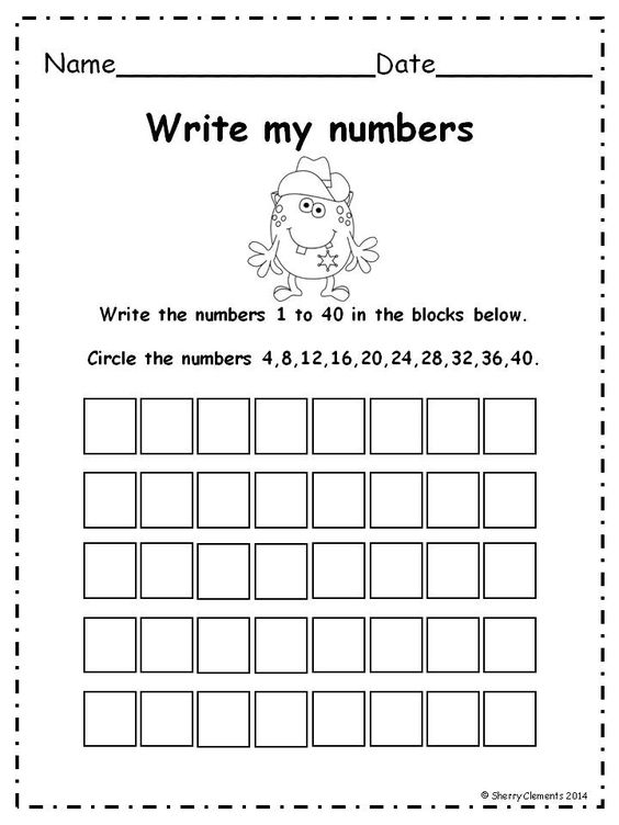 Write numbers 1-50 pack and coloring or circling directed numbers ...