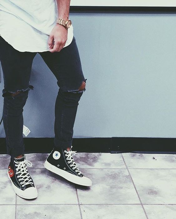 Black converse outfits, Mens outfits