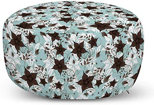 Large petaled flower tuffet foot stool