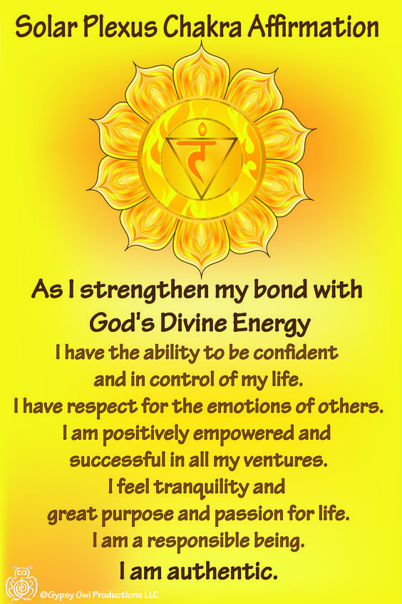 The third Chakra is the solar plexus located just above the navel. The yellow color is for intelligence and is responsible for your personal and professional success.