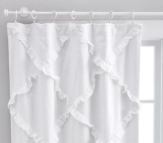 Diamond Ruffle Blackout Curtain Blackout Panels Nursery