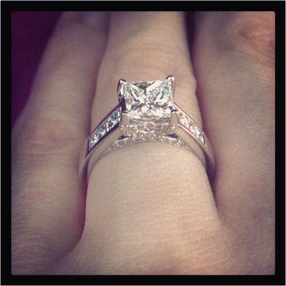 real ritani engagement rings princess cut solitaire