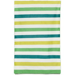 Shop for Bold Stripe Outdoor Rug (5' x 7'6). Get free shipping at Overstock.com - Your Online Home Decor Outlet Store! Get 5% in…