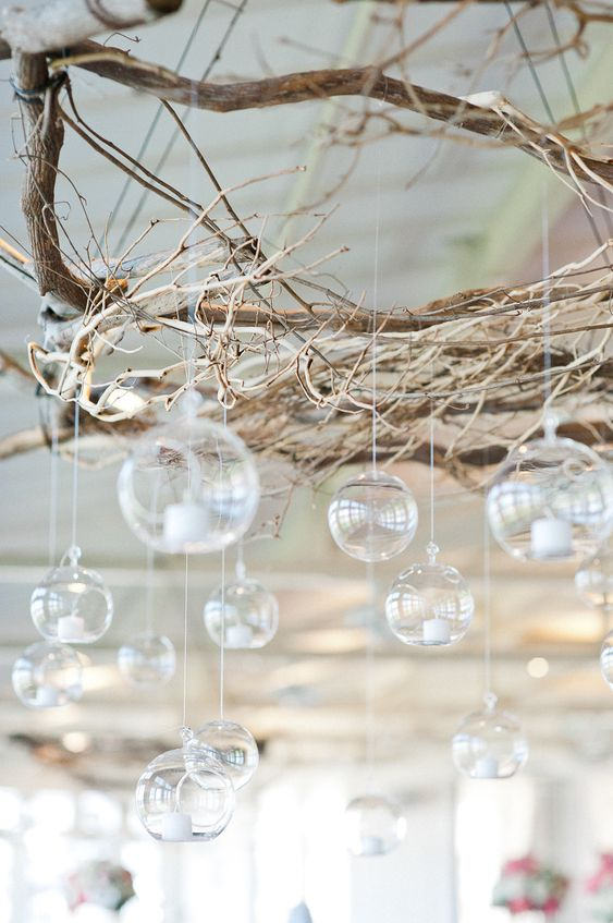 Hanging candle Decor - Terrarium wedding decor ideas