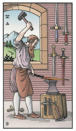 Five of Swords - Alchemical Renewed Tarot by Robert M. Place, Leisa ReFalo